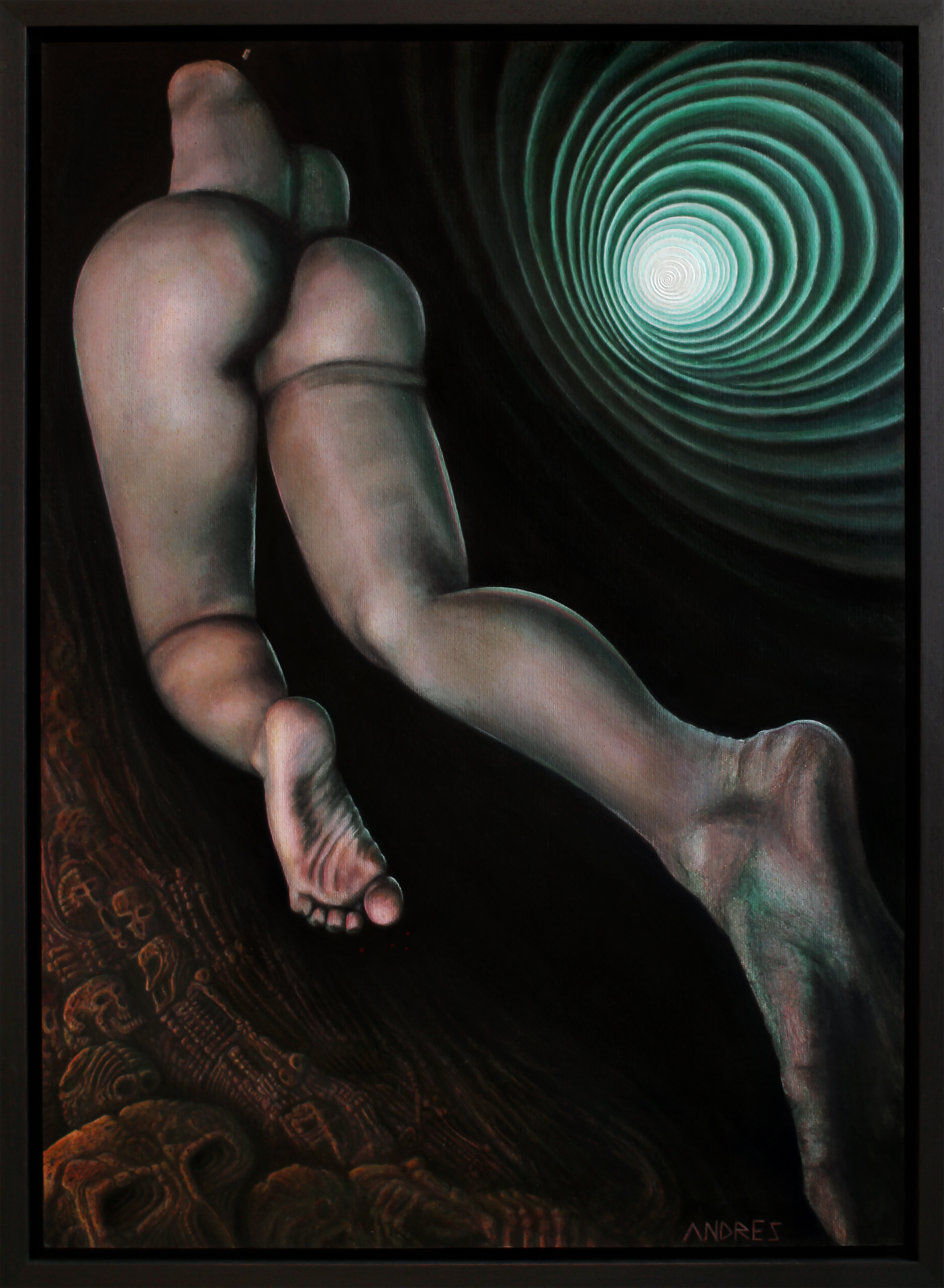 """""""Inanna"""" acrylic on canvas 2010 by Andres Fouché"""